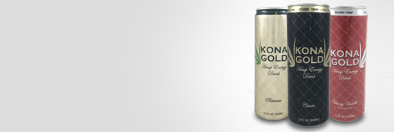 Kona Gold Premium Hemp Energy Drinks